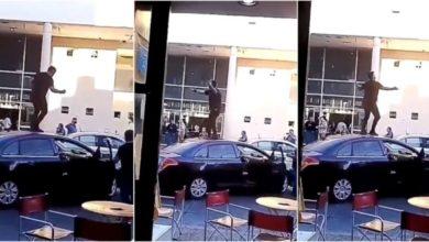 Photo of Vídeo- Un hombre baila en el techo del auto