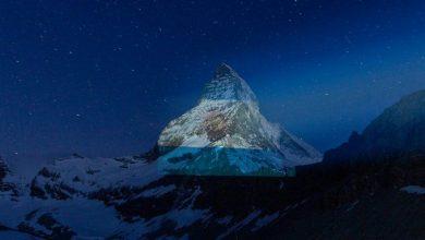 Photo of Bandera argentina en los Alpes suizos como mensaje de esperanza contra el coronavirus